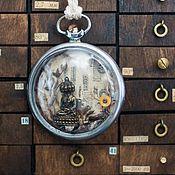 Украшения ручной работы. Ярмарка Мастеров - ручная работа Будда в корпусе старых карманных часов. Handmade.