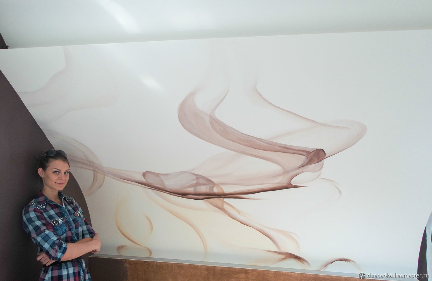 Wall painting in the bedroom of Abstraction, Decor, St. Petersburg,  Фото №1