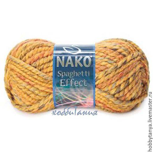 Вязание ручной работы. Ярмарка Мастеров - ручная работа. Купить Nako Spaghetti Efect пряжа для ручного вязания. Handmade. Зеленый
