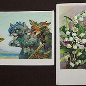 Винтаж handmade. Livemaster - original item POSTCARD ... Cards... 1950 - 1960-ies .... Handmade.