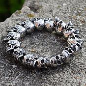 Украшения handmade. Livemaster - original item Bracelet with skulls of jewelry steel. Handmade.