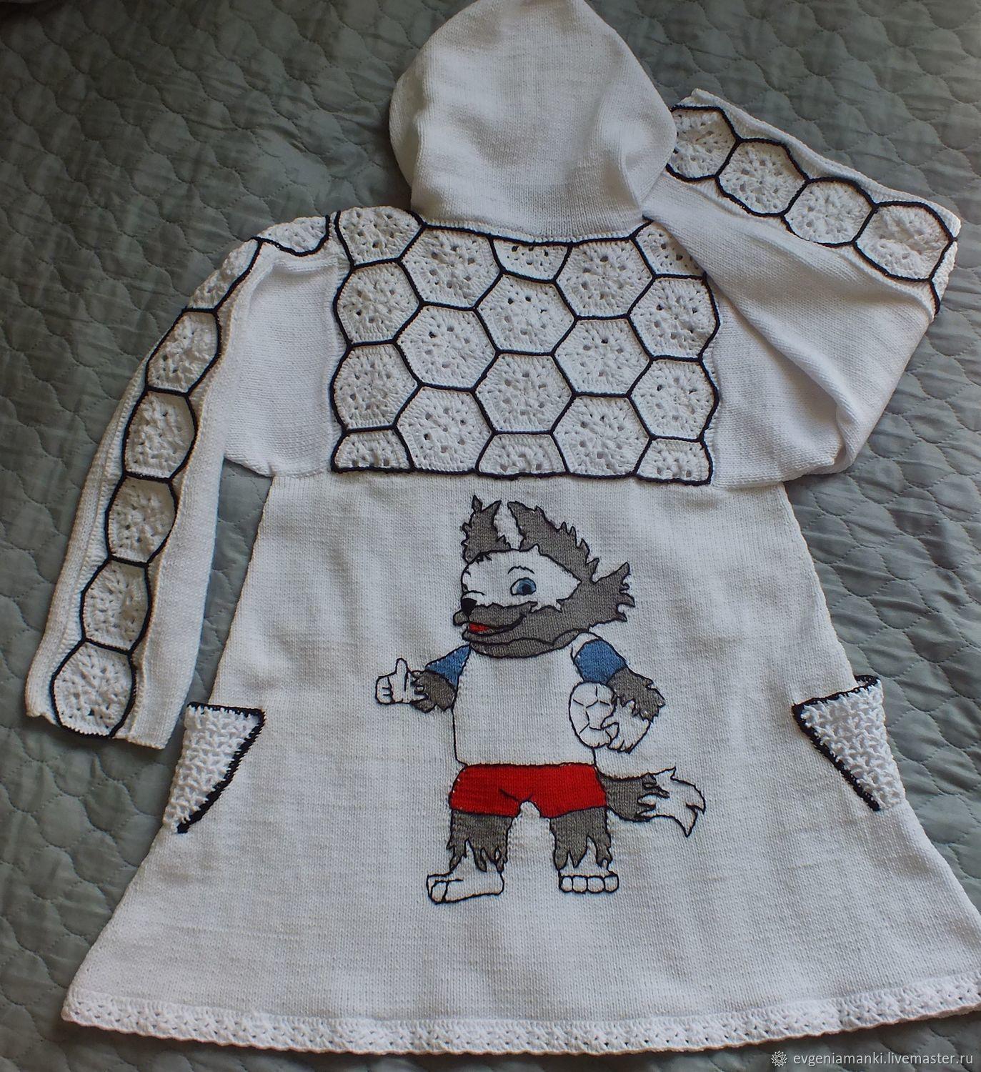 7cbd067cbe6 Летнее пальто Футбол детское вязаное для девочки – купить в интернет ...