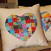 Для дома и интерьера ручной работы. Ярмарка Мастеров - ручная работа Подушки с сердечком. Handmade.