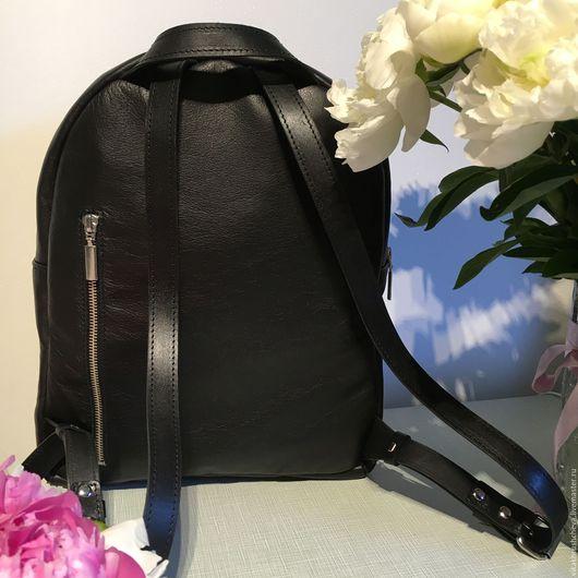 Рюкзаки ручной работы. Ярмарка Мастеров - ручная работа. Купить Рюкзак Классический черный. Handmade. Черный, натуральная кожа