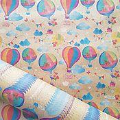 """Бумага ручной работы. Ярмарка Мастеров - ручная работа Крафт-бумага """"Воздушные шары"""". Handmade."""