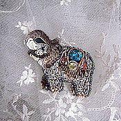 """Украшения ручной работы. Ярмарка Мастеров - ручная работа Брошь """"Бронзовый слон""""(продано). Handmade."""