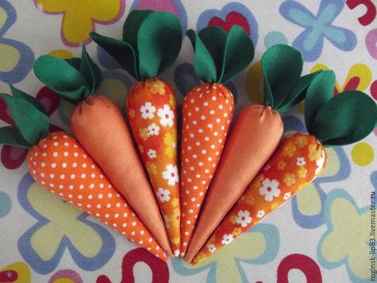 Еда ручной работы. Ярмарка Мастеров - ручная работа. Купить Морковь из ткани. Handmade. Оранжевый, морковный, еда из фетра, заяц