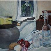 Картины и панно ручной работы. Ярмарка Мастеров - ручная работа Натюрморт маслом кухонный. Handmade.