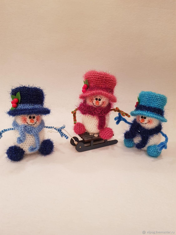Новогодний подарок - Снеговички, Мягкие игрушки, Москва,  Фото №1