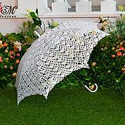 Аксессуары ручной работы. Ярмарка Мастеров - ручная работа Вязаный зонт с бусинами. Handmade.