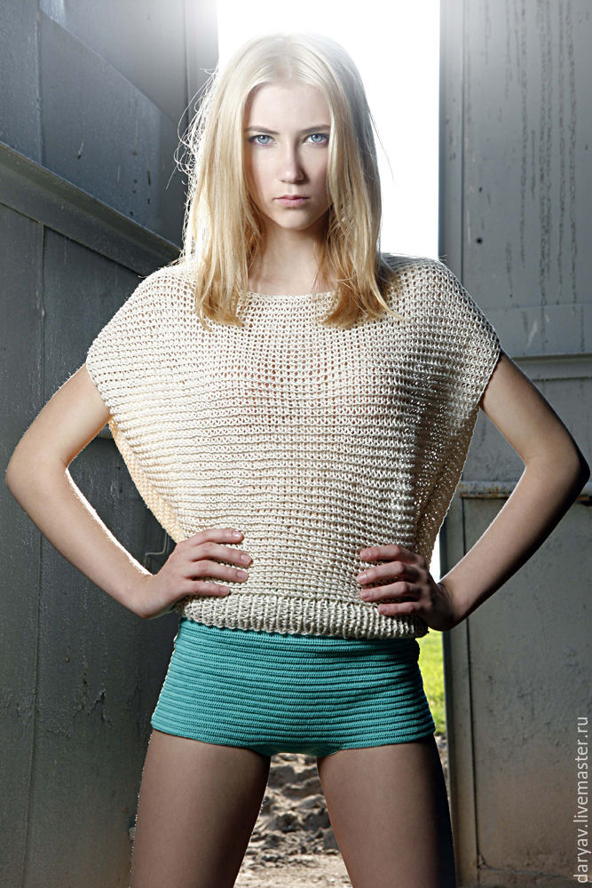 Blouse from flax yarn, Sweater Jackets, St. Petersburg,  Фото №1