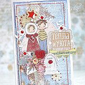 Открытки ручной работы. Ярмарка Мастеров - ручная работа Новогодние открытки. Handmade.