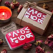 """Косметика ручной работы. Ярмарка Мастеров - ручная работа Мыло в коробке """"Я люблю тебя"""". Handmade."""