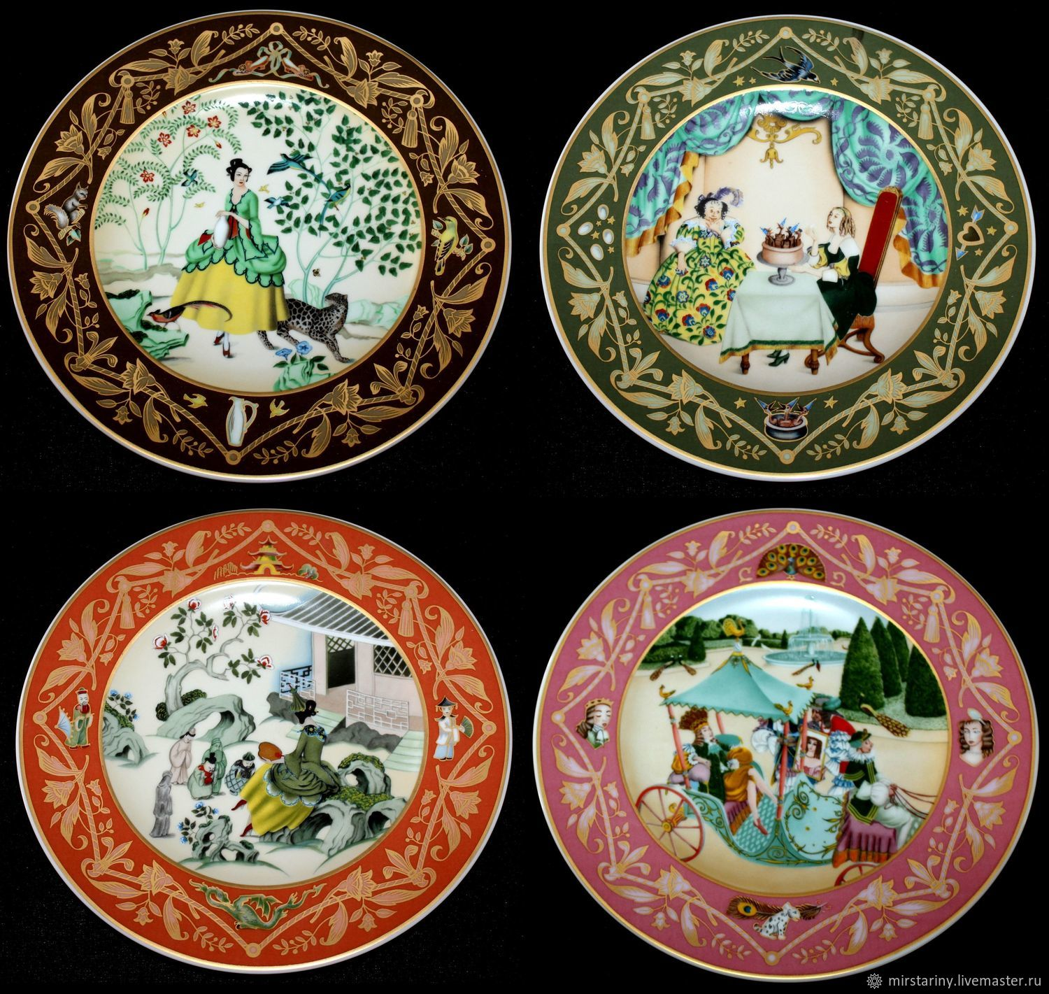 Plates 'French fairy tales', Edmund Dulac, Villeroy Boch, Vintage interior, Moscow,  Фото №1