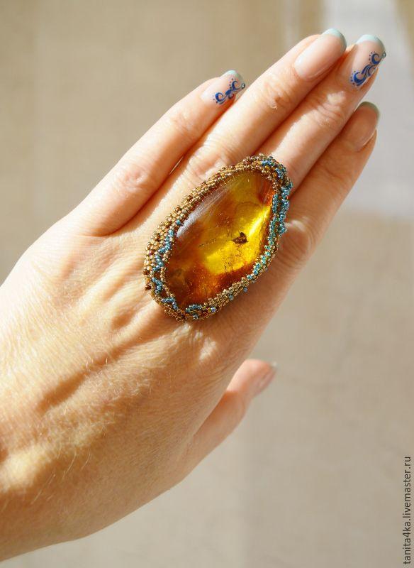 кольца с янтарем  цены