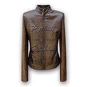 Одежда handmade. Livemaster - original item The jacket of Python NEVADA. Handmade.