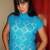 """Одежда ручной работы. Ярмарка Мастеров - ручная работа Жилет """" Голубая лагуна"""". Handmade."""