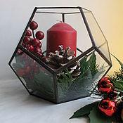 Подарки к праздникам ручной работы. Ярмарка Мастеров - ручная работа Новогодняя композиция со свечей. Handmade.