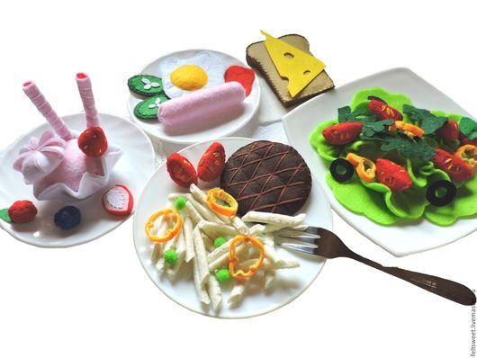 Еда ручной работы. Ярмарка Мастеров - ручная работа. Купить наборы игрушечной еды. Handmade. Игрушечная еда, играем в еду
