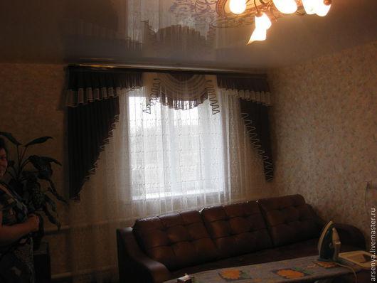 Текстиль, ковры ручной работы. Ярмарка Мастеров - ручная работа. Купить Шторы для гостинной Светлана. Handmade. Уют, бантовая складка