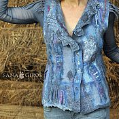 Одежда ручной работы. Ярмарка Мастеров - ручная работа Жилет ручной работы из шерсти и шелка. Handmade.