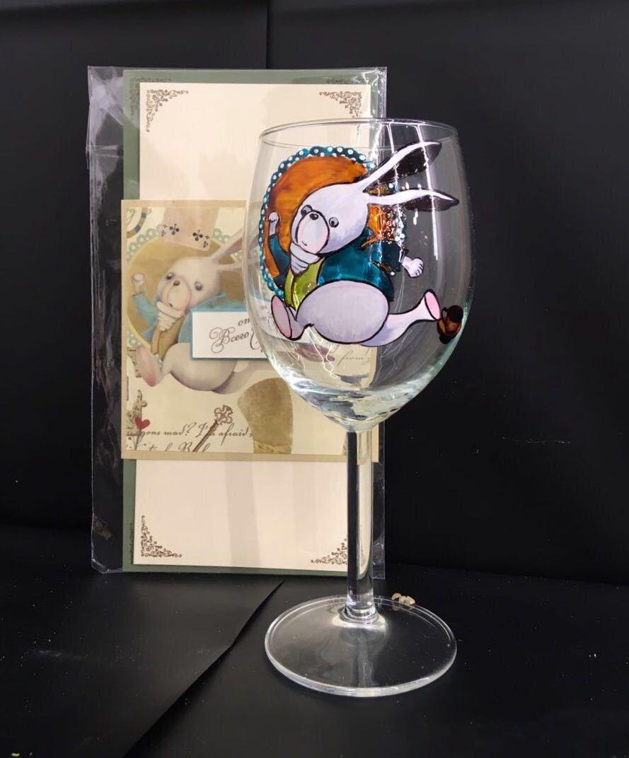 Бокал для вина с авторской росписью «Зайка», Бокалы, Москва,  Фото №1