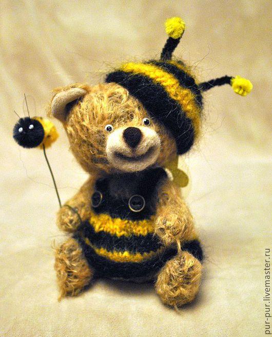 Мишки Тедди ручной работы. Ярмарка Мастеров - ручная работа. Купить Еслиб мишки были пчелами 2...(Zzzzинка) (нашла дом). Handmade.