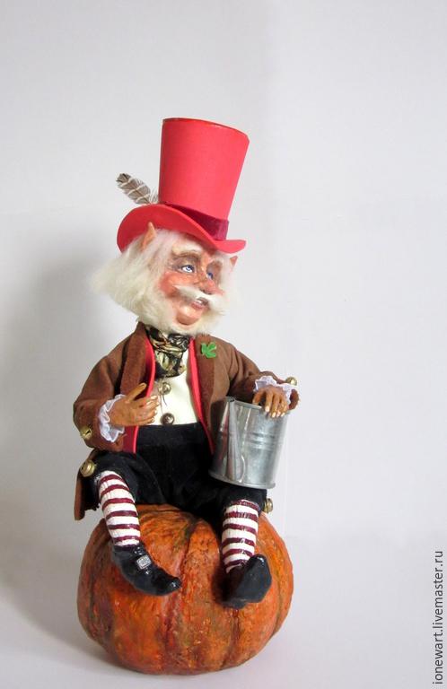 Сказочные персонажи ручной работы. Ярмарка Мастеров - ручная работа. Купить Лепрекон Руфус. Handmade. Разноцветный, феи, кукла