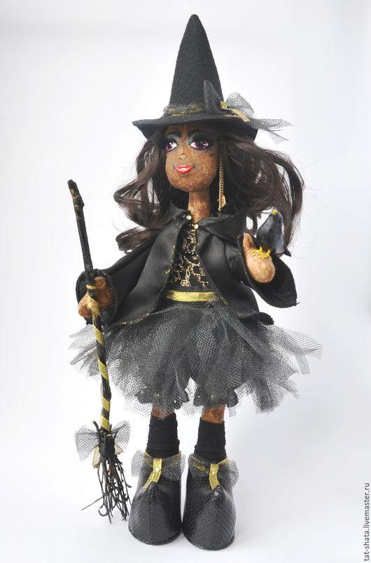 Ароматизированные куклы ручной работы. Ярмарка Мастеров - ручная работа. Купить стильная ведьмочка. Handmade. Черный, подарок, кофейная игрушка