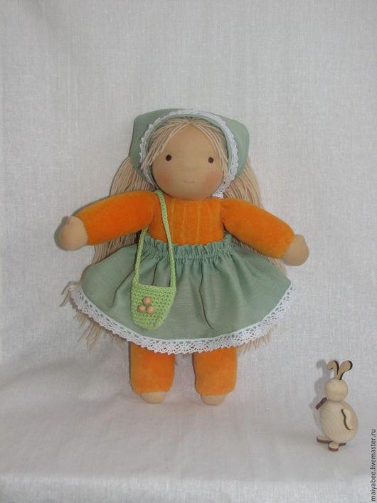 Вальдорфская игрушка ручной работы. Ярмарка Мастеров - ручная работа. Купить Кукла в пришивном комбинезоне с отдельнопришитыми ручками, 30 см. Handmade.