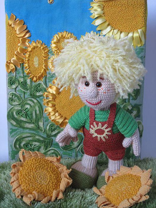 Человечки ручной работы. Ярмарка Мастеров - ручная работа. Купить Кукла Подсолнухи. Handmade. Текстильная кукла, детская игрушка, хлопок