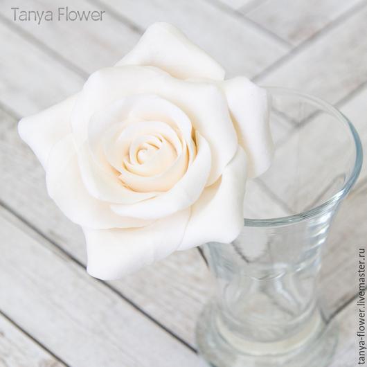 Заколки ручной работы. Ярмарка Мастеров - ручная работа. Купить Шпильки с розами (большие) Белые. Handmade. Украшение для волос
