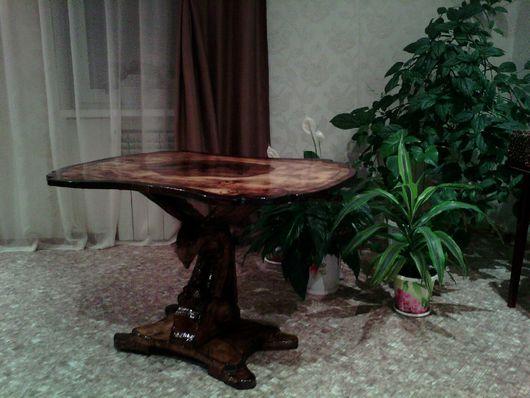 """Мебель ручной работы. Ярмарка Мастеров - ручная работа. Купить Журнальный столик  """" Орел"""". Handmade. Коричневый, кедровое масло"""