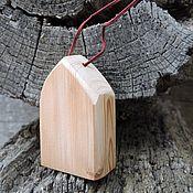 Елочные игрушки ручной работы. Ярмарка Мастеров - ручная работа Ёлочная деревянная игрушка - домик. Handmade.