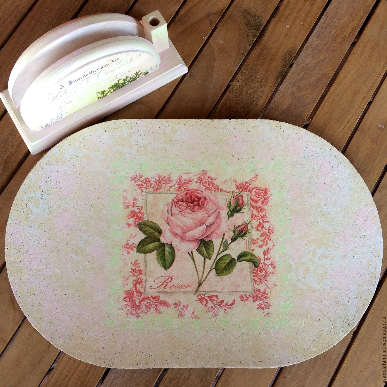 Подставка под тарелки пробка английский сад