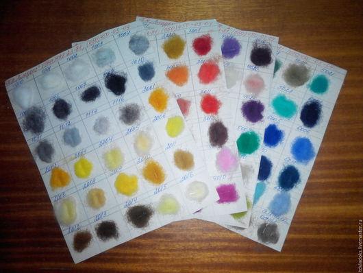 """Валяние ручной работы. Ярмарка Мастеров - ручная работа. Купить Продается палитра из 120 цветов ТМ """"Klippan Saule"""". Handmade."""