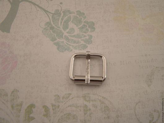 Другие виды рукоделия ручной работы. Ярмарка Мастеров - ручная работа. Купить Пряжка RRT 25мм никель. Handmade. Серебряный