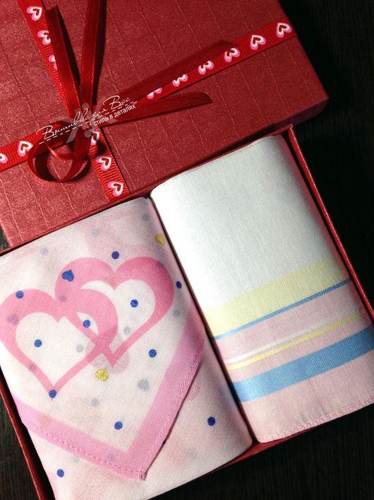 Подарки для влюбленных ручной работы. Ярмарка Мастеров - ручная работа. Купить Носовые платочки женские Сердце вышивкой инициалов монограммы вензель. Handmade.