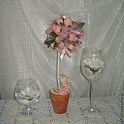 """Для дома и интерьера ручной работы. Ярмарка Мастеров - ручная работа Топиарий """"Розовый ангел"""". Handmade."""