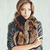 Аксессуары handmade. Livemaster - original item Fox fur scarf in brown. Handmade.