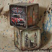 Подарки к праздникам ручной работы. Ярмарка Мастеров - ручная работа London-3, кубики 8 см. Handmade.