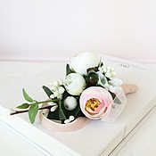 """Свадебный салон ручной работы. Ярмарка Мастеров - ручная работа Бутоньерка свадебная для жениха """"Ранункулюс"""". Handmade."""
