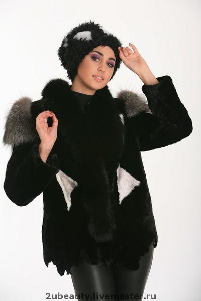 Верхняя одежда ручной работы. Ярмарка Мастеров - ручная работа. Купить Меховой пиджак.Пиджак из мутона.Пиджак чёрный.. Handmade.