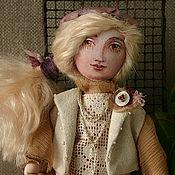Куклы и игрушки ручной работы. Ярмарка Мастеров - ручная работа девочка с оленем. Handmade.