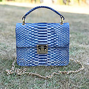 Сумки и аксессуары handmade. Livemaster - original item Python leather handbag PRIME. Handmade.