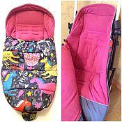 Конверт в коляску ручной работы. Ярмарка Мастеров - ручная работа Конверт для Babyzen yoyo и других колясок с сиденьем гамак. Handmade.
