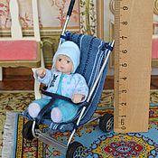 Куклы и игрушки ручной работы. Ярмарка Мастеров - ручная работа Кукла миниатюрная  Малыш в коляске. Handmade.