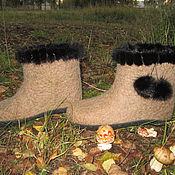 """Обувь ручной работы. Ярмарка Мастеров - ручная работа Валенки домашние """"Теплый сентябрь"""" .. Handmade."""