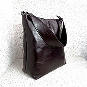 Классическая сумка ручной работы. Ярмарка Мастеров - ручная работа ГРАНАТОВЫЙ ВКУС кожаная сумка на плечо, бордовый, марсала. Handmade.