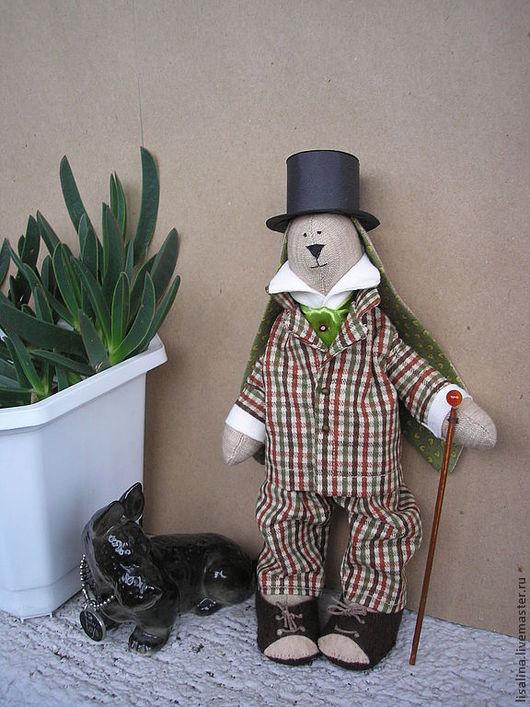 """Куклы Тильды ручной работы. Ярмарка Мастеров - ручная работа. Купить Заяц """"Английский лорд"""". Handmade. Заяц, лорд, тильда"""